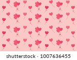 pink shape of hearts flying... | Shutterstock .eps vector #1007636455