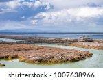 boardwalk crossing the salt... | Shutterstock . vector #1007638966