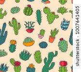 cactus vector home nature... | Shutterstock .eps vector #1007641405
