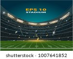 american football stadium eps 10 | Shutterstock .eps vector #1007641852