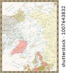 arctic ocean political map.... | Shutterstock .eps vector #1007643832