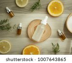 vitamin c serum .natural... | Shutterstock . vector #1007643865