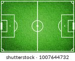 top view of empty soccer...   Shutterstock . vector #1007644732