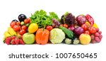 collection of fruits and... | Shutterstock . vector #1007650465