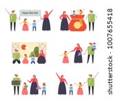 family characters showing...   Shutterstock .eps vector #1007655418