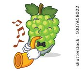 with trumpet green grapes...   Shutterstock .eps vector #1007658022