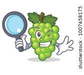 detective green grapes... | Shutterstock .eps vector #1007658175