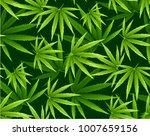marijuana leaves seamless... | Shutterstock .eps vector #1007659156