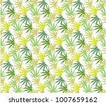 marijuana leaves seamless... | Shutterstock .eps vector #1007659162