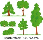 a collection of various types... | Shutterstock .eps vector #100766596