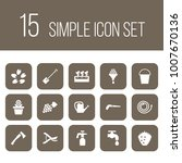 set of 15 horticulture icons... | Shutterstock . vector #1007670136