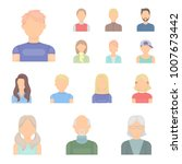 avatar and face cartoon icons... | Shutterstock .eps vector #1007673442