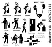 kidney stone icons. pictogram... | Shutterstock .eps vector #1007673658