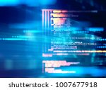 programming code abstract... | Shutterstock . vector #1007677918