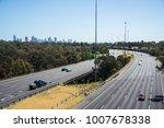 traffic on the eastern freeway... | Shutterstock . vector #1007678338