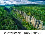 aerial of ouimet canyon ... | Shutterstock . vector #1007678926