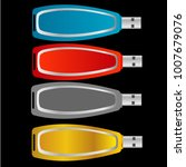set of colorful usb flash drive ... | Shutterstock .eps vector #1007679076