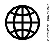 web icon  globe icon vector | Shutterstock .eps vector #1007694526