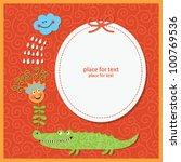 children greeting card or... | Shutterstock .eps vector #100769536