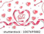 valentine's day sale web banner.... | Shutterstock .eps vector #1007695882