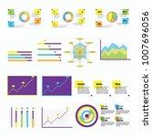 set of clean modern info... | Shutterstock .eps vector #1007696056