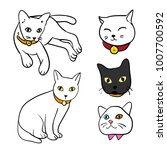 cat character sketch   Shutterstock .eps vector #1007700592