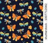 bugs pattern design   Shutterstock .eps vector #1007712082