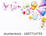 baby shower. cookies in shape... | Shutterstock . vector #1007714755