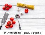 preparing to cook pasta.... | Shutterstock . vector #1007714866