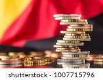 national flag of germany and... | Shutterstock . vector #1007715796