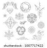 asian traditional design  print ... | Shutterstock .eps vector #1007717422