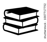 books stack icon | Shutterstock .eps vector #1007717752
