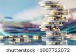 tower with euro coins and... | Shutterstock . vector #1007722072