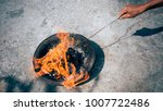 chinese traditional burn paper  ...   Shutterstock . vector #1007722486