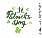 happy st patrick's day vintage... | Shutterstock . vector #1007725012