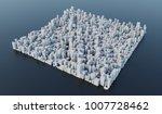 3d Render  White Modern City...