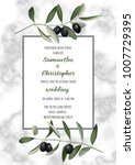 wedding invitation card on... | Shutterstock .eps vector #1007729395