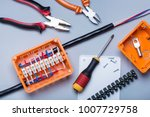 electrical component kit to use ...   Shutterstock . vector #1007729758