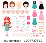 constructor for valentines day. ... | Shutterstock .eps vector #1007737912