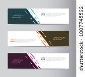 banner background. modern... | Shutterstock .eps vector #1007745532