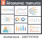 9 infographic templates  set 1  ... | Shutterstock .eps vector #1007747425