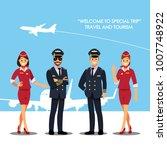 pilot  capitan    flying... | Shutterstock .eps vector #1007748922