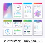 smartphone ui. mobile vector...