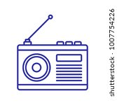 radio vector icon | Shutterstock .eps vector #1007754226