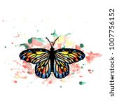 big beautiful butterfly with... | Shutterstock .eps vector #1007756152