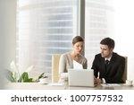 millennial businesswoman... | Shutterstock . vector #1007757532