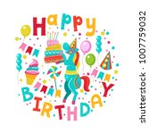 happy birthday  greeting... | Shutterstock .eps vector #1007759032