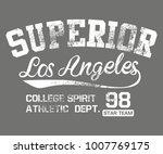 california los angeles graphic...   Shutterstock .eps vector #1007769175