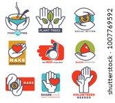 hand icons vector flat hands... | Shutterstock .eps vector #1007769592