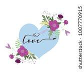 happy valentine's day card | Shutterstock .eps vector #1007770915